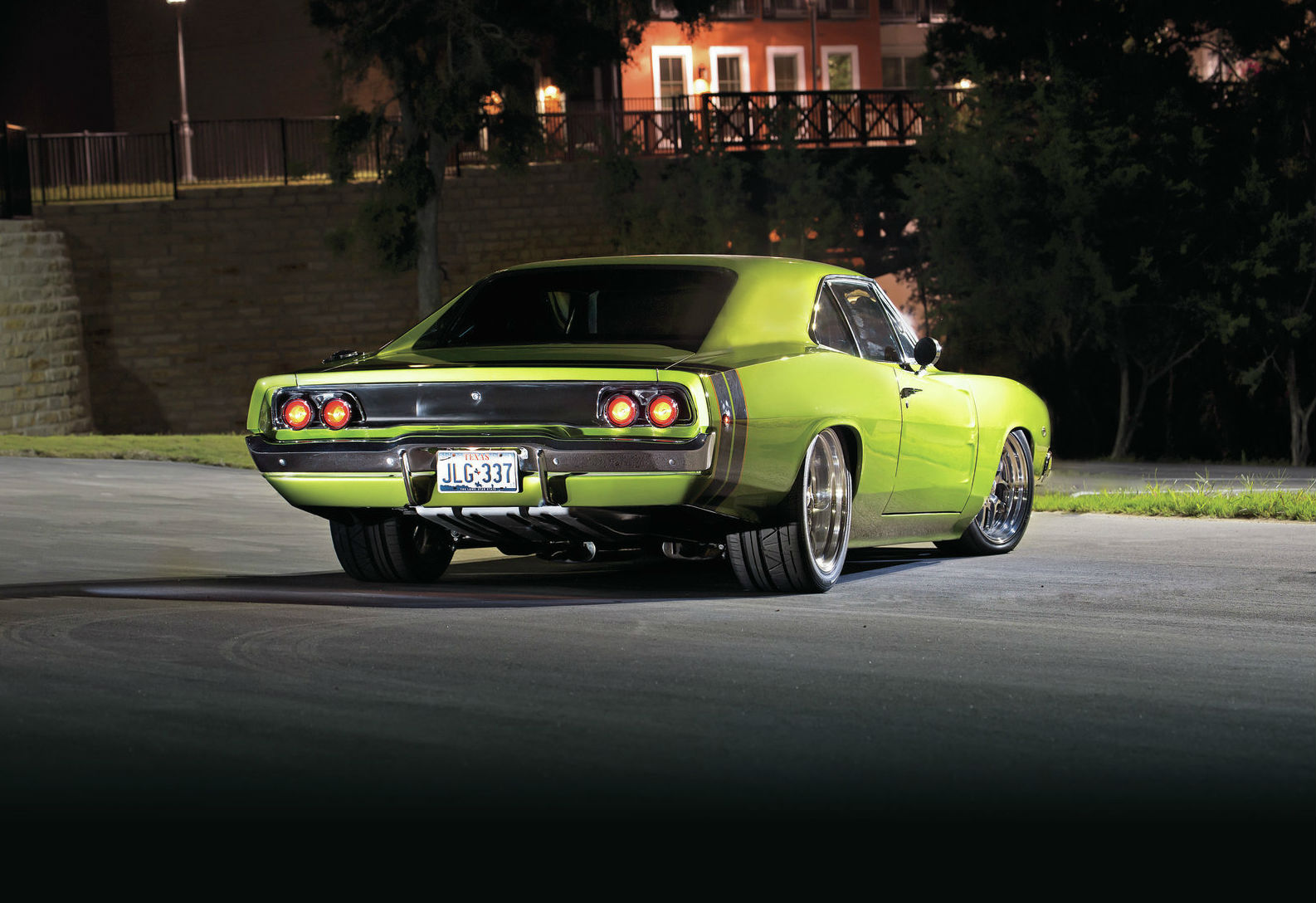 Dodge Charger Rear View Muscle Cars Zone