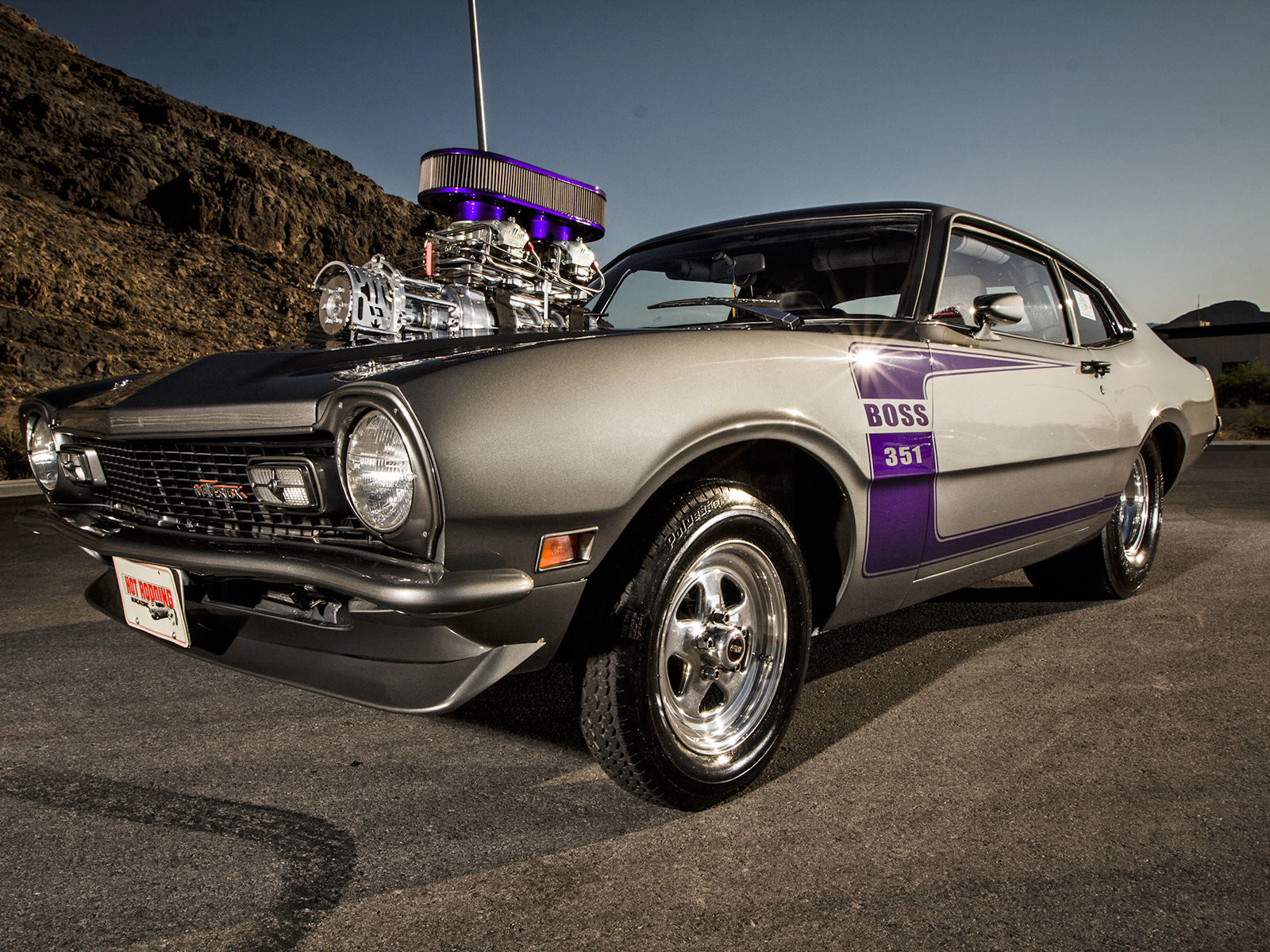 Pro Street Style 1974 Ford Maverick! - Muscle Cars Zone!