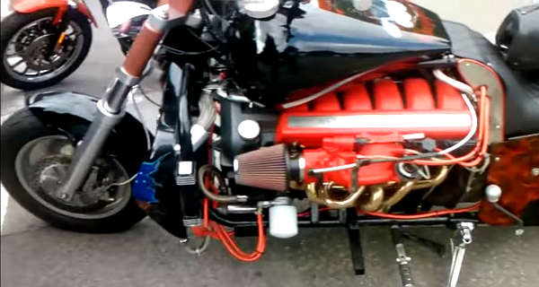 Used Cars Miami >> Crazy Motorbike With 450HP Aston Martin V12 Engine! - Muscle Cars Zone!