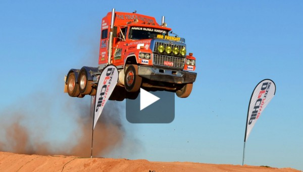 Crazy Semi Truck Jump 101 9 Feet With Ash Nichols Must See