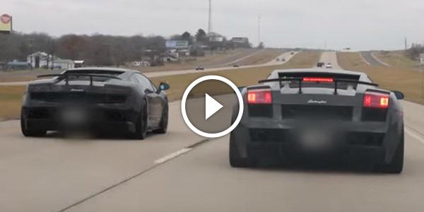 INSANE 1700HP Lamborghini Twin Turbo UGR vs Corvette C6 Z06