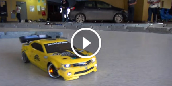 Underground RC Drifting With Miniature Cars Hot Rods 1