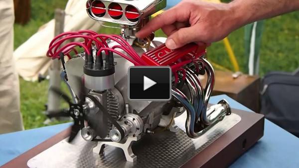 working mini v8 gas engine kit