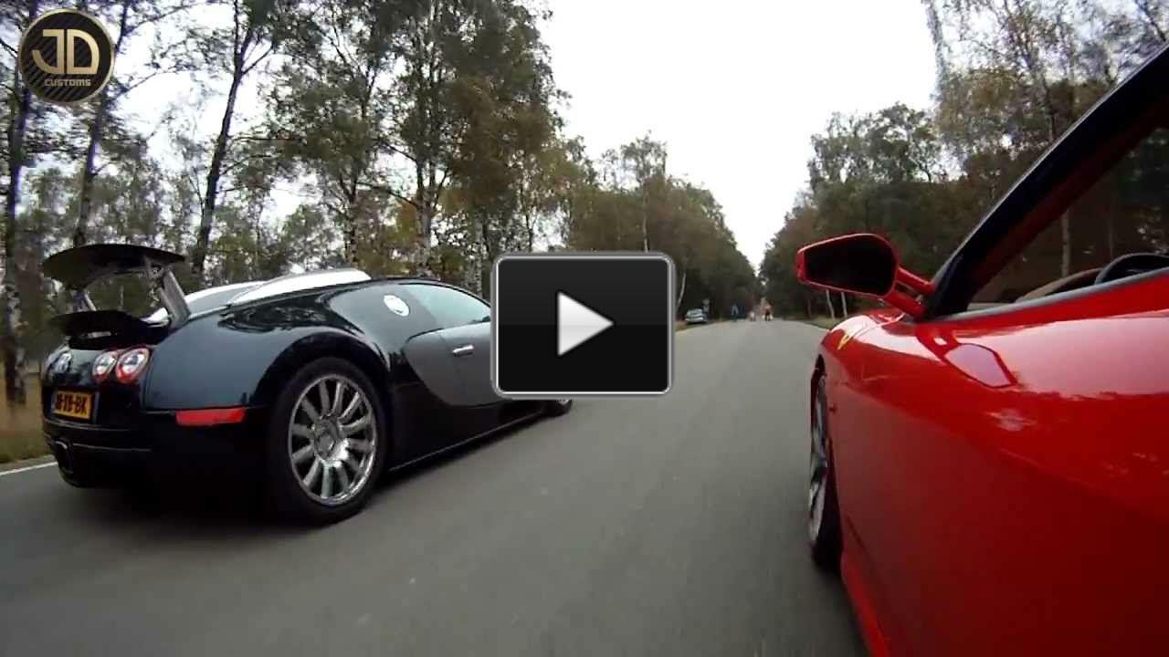 drag race bugatti veyron vs ferrari f430 jdc muscle cars zone. Black Bedroom Furniture Sets. Home Design Ideas