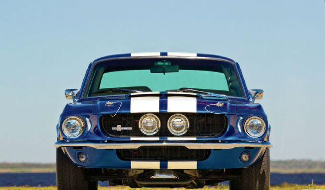 1967 Ford Mustang Headlights Front View Muscle Cars Zone