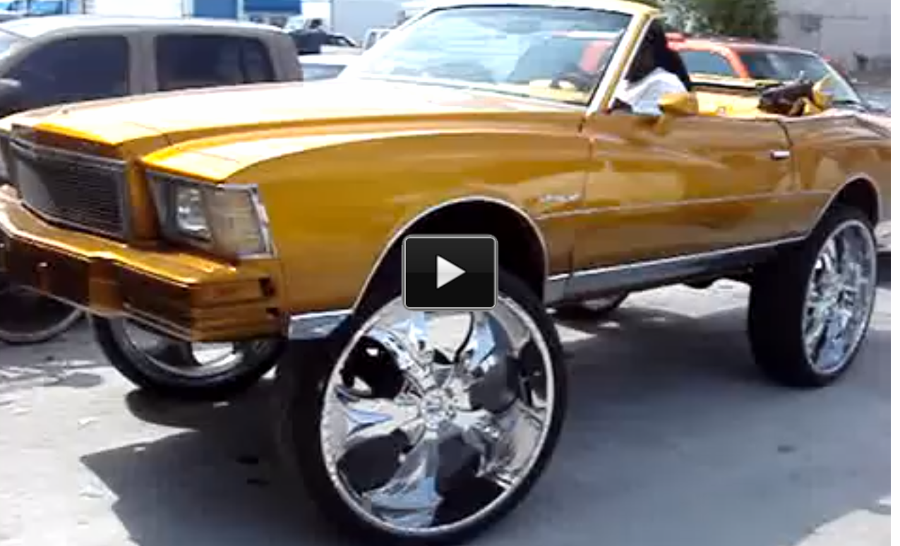 30 Inch Rims On Chevy : Custom chevy monte carlo on inch rims muscle