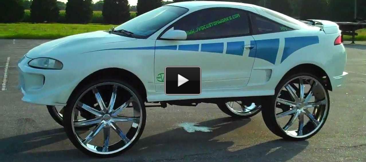 Best Mitsubishi Eclipse On 30 Inch Rims Cruising Around