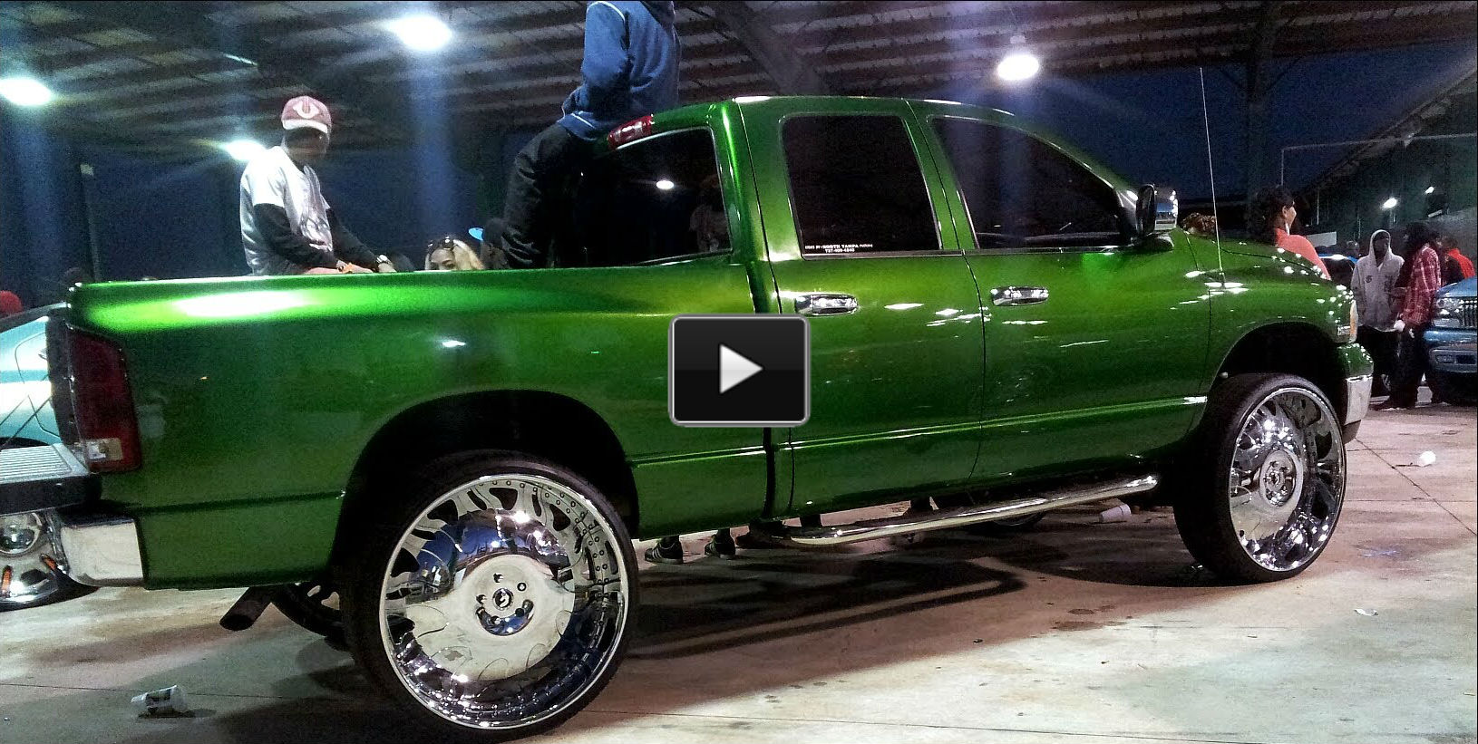 Monster Truck Rc Cars >> Kandy Green Dodge Ram on 32 inch Forgiato Rims!