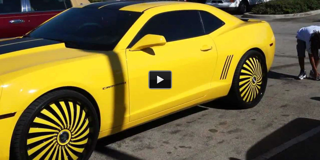 Chevy Camaro Bumble Bee On 24 Inch Dub Rims Muscle Cars