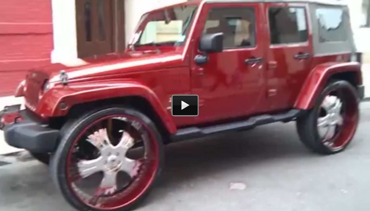 Check Out This Wrangler Jeep On 30 Inch Rims