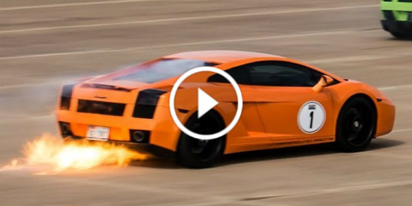 1800hp Twin Turbo Gallardo On Fire At Over 200 Mph Muscle Cars