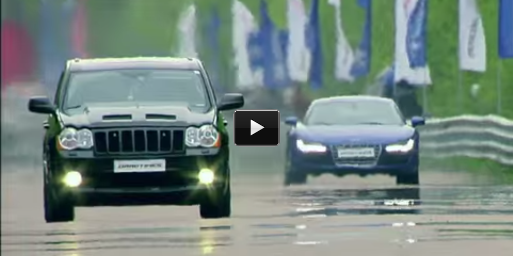 Audi Srt: Incredible Drag Race: Jeep SRT-8 Vs Audi Vs GT-R Vs BMW X6M