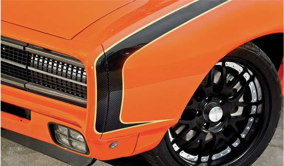 1969 pontiac gto rear profile