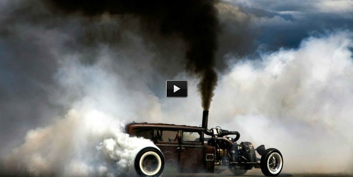 Turbo Diesel Rat Rod burnout