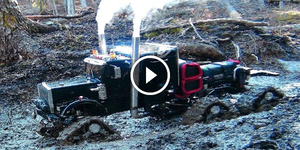 CAN HE PULL OUT Semi-Truck RC 6X6 BEAST Got Stuck In Mud Full HD (1080p) 4 RC Semi Truck
