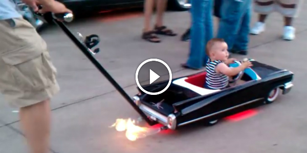Custom Cadillac Baby Stroller! Engage Them Young To Muscle Cars! Idea For The Most Carrying Fathers 31!
