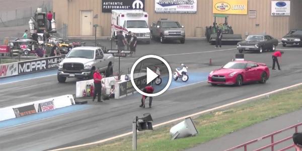 Dodge Ram Cummins DESTROYS Nissan GTR! Is There A DEMON Under That Truck's Hood 141