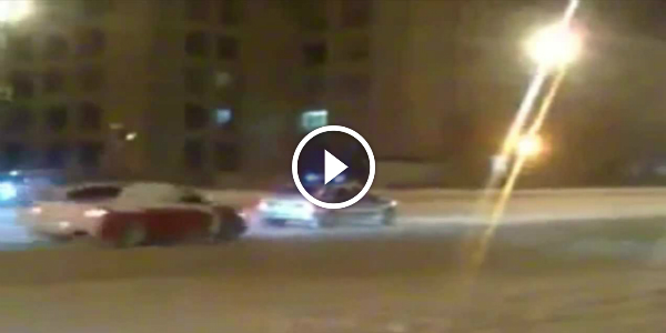 the police car drift