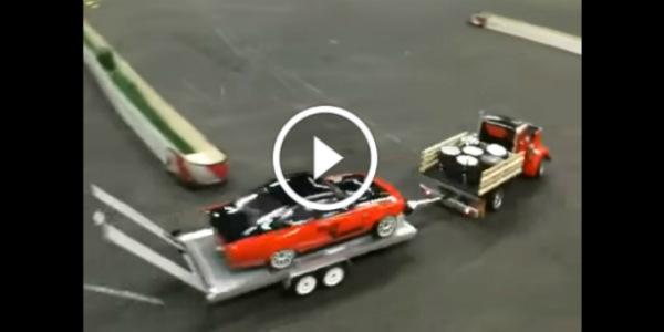 drifting RC Car Got On A Truck Trailer after drifting 2