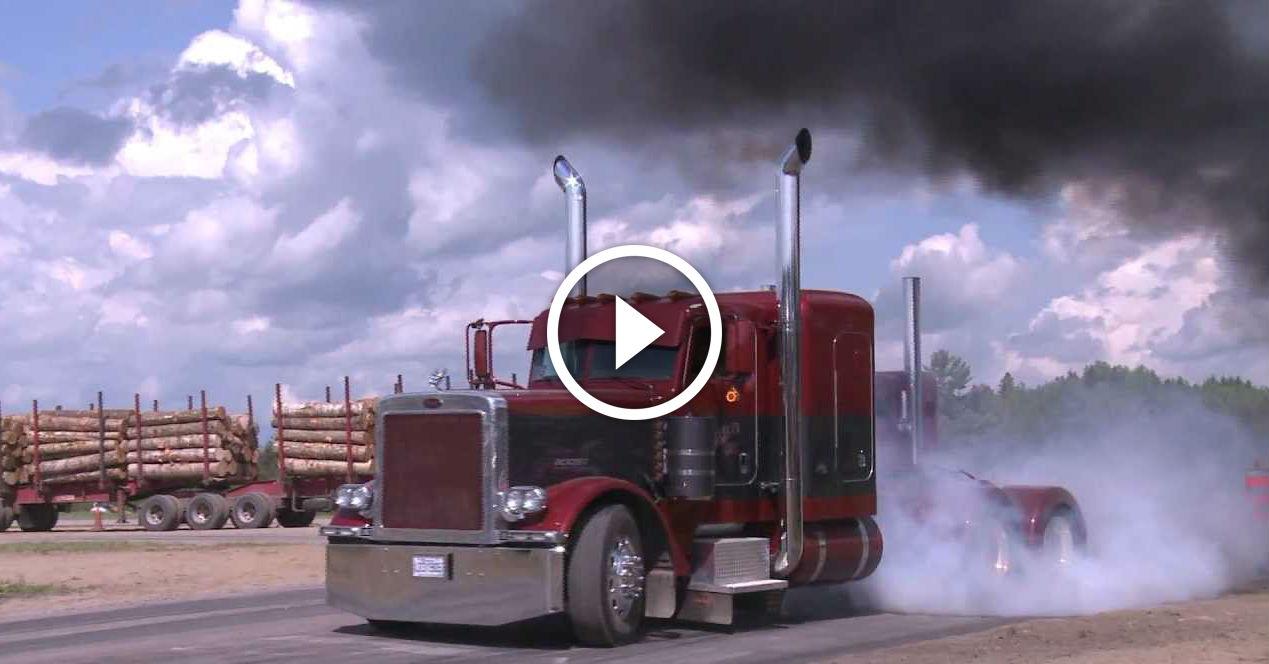Peterbilt Performance Drag Race Burnouts And Coal