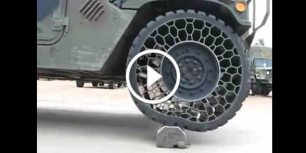 Airless Tires Test! Pretty Cool Military Tires Invention ...