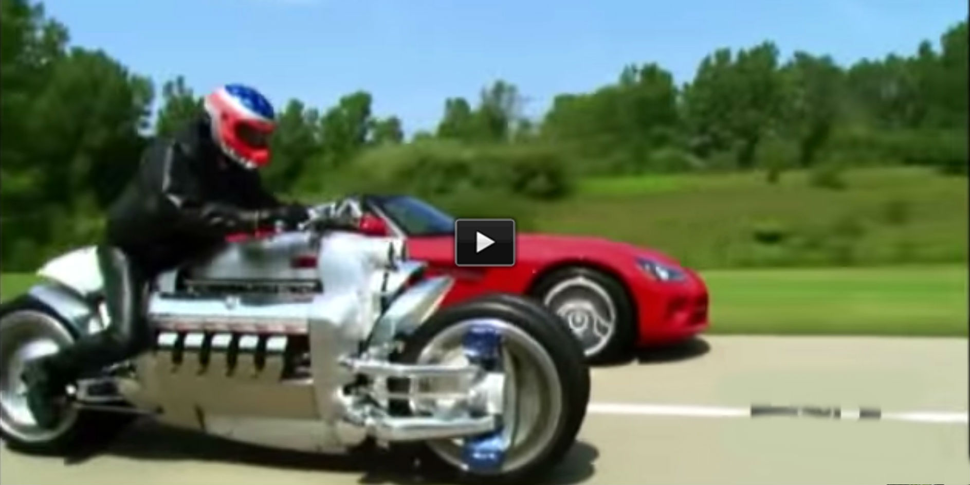 Dodge Tomahawk vs Dodge Viper! + Test Drive VIDEO! This Motorcycle is Awesome!