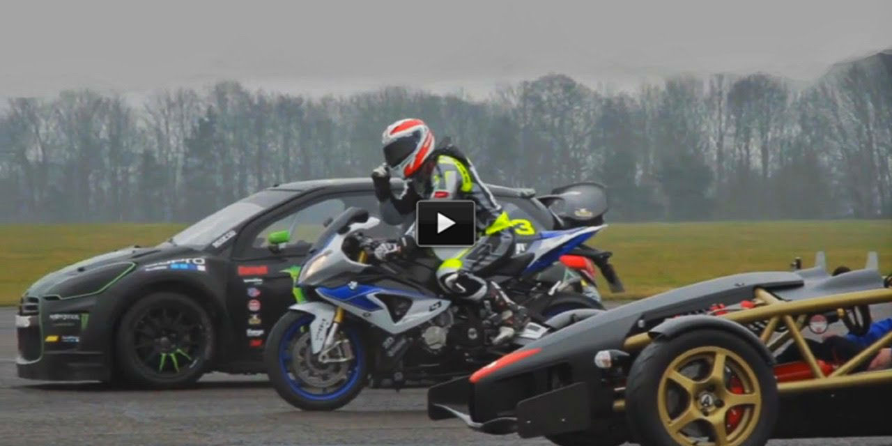 Ariel Atom V8 vs bmw superbike vs rally citroen