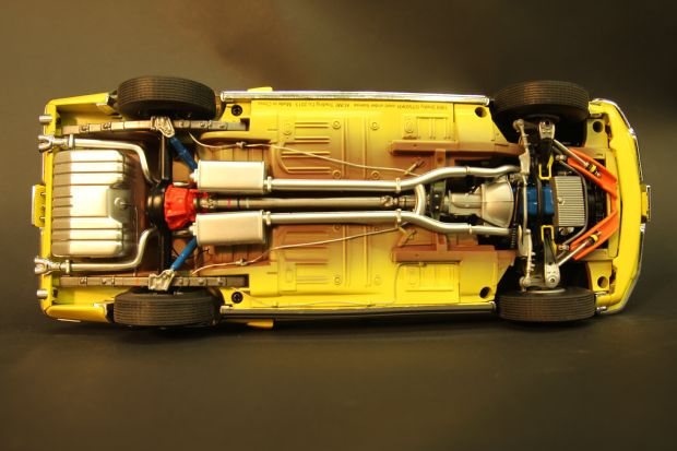 1405 1968 Ford Mustang Diecast Undercarriage Muscle Cars