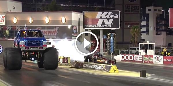 INSANE Drag Race BIG FOOT vs JET CAR Terminal Velocity 4! JET DRAGSTER