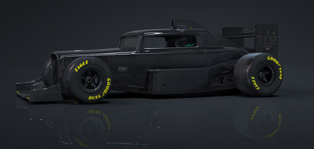 Mad Max Inspired Hot Rod Formula 1 Bolid 1932 Ford 3