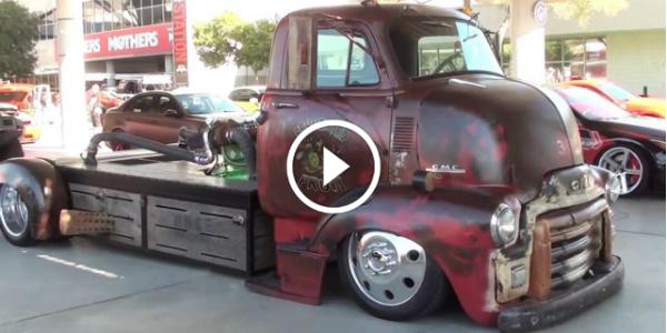 Mid Engine Rat Rod Turbo Diesel Truck! VERY COOL SIN CITY CAR! 2