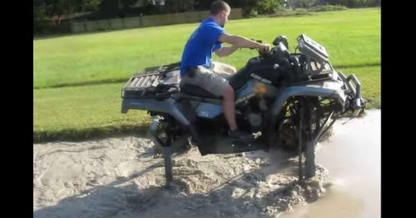 Atv Mudding Mud Hole Is No Obstacle For This Lifted All