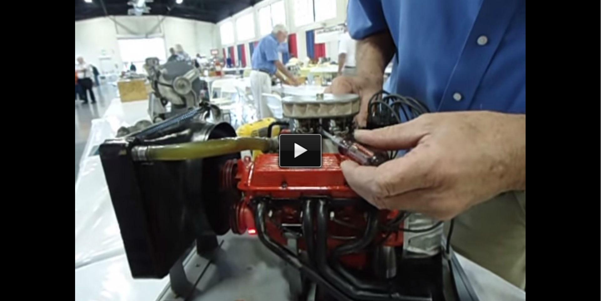 miniature chevy small block V8 model engine