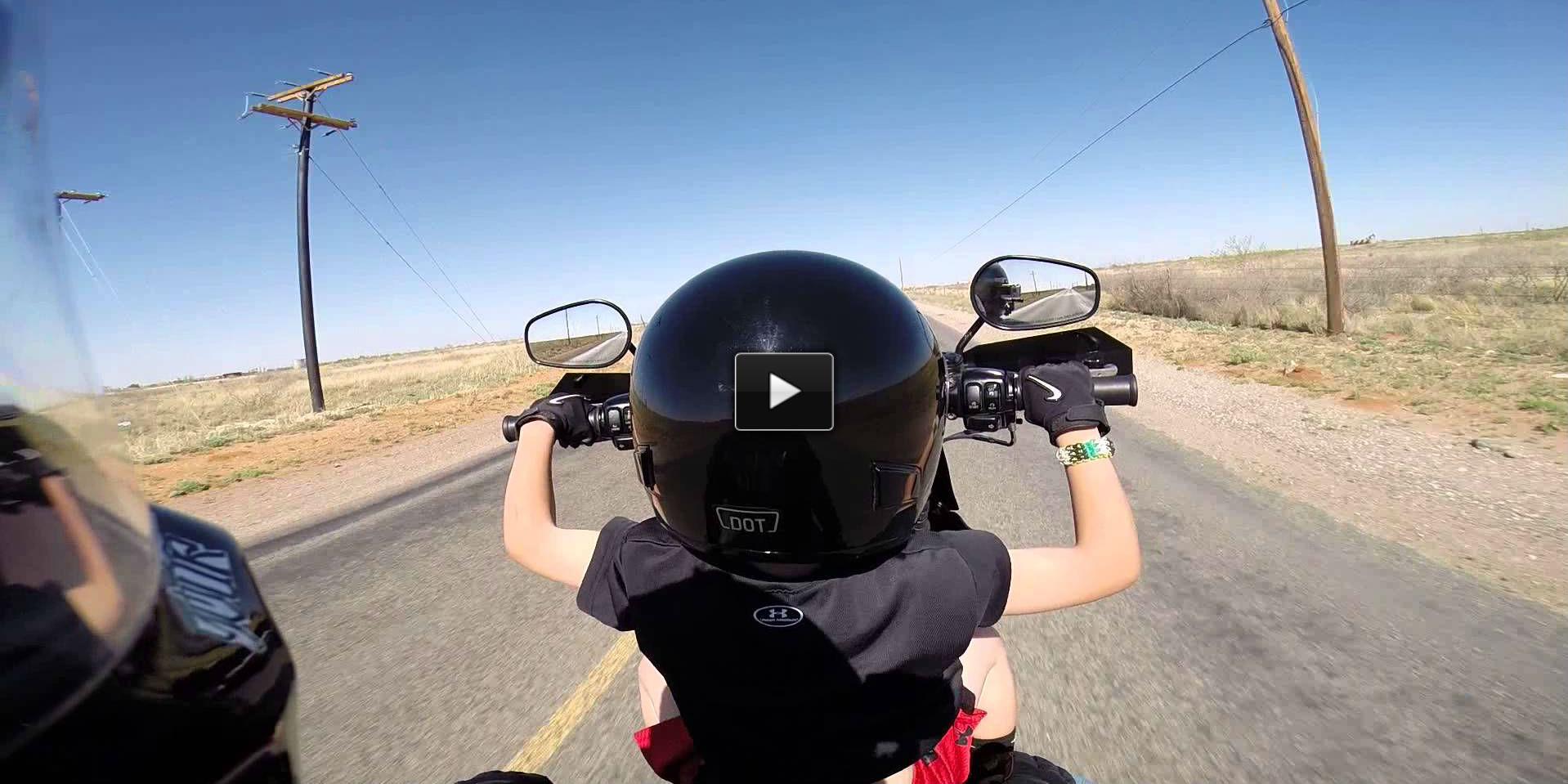 6 yr old riding Harley
