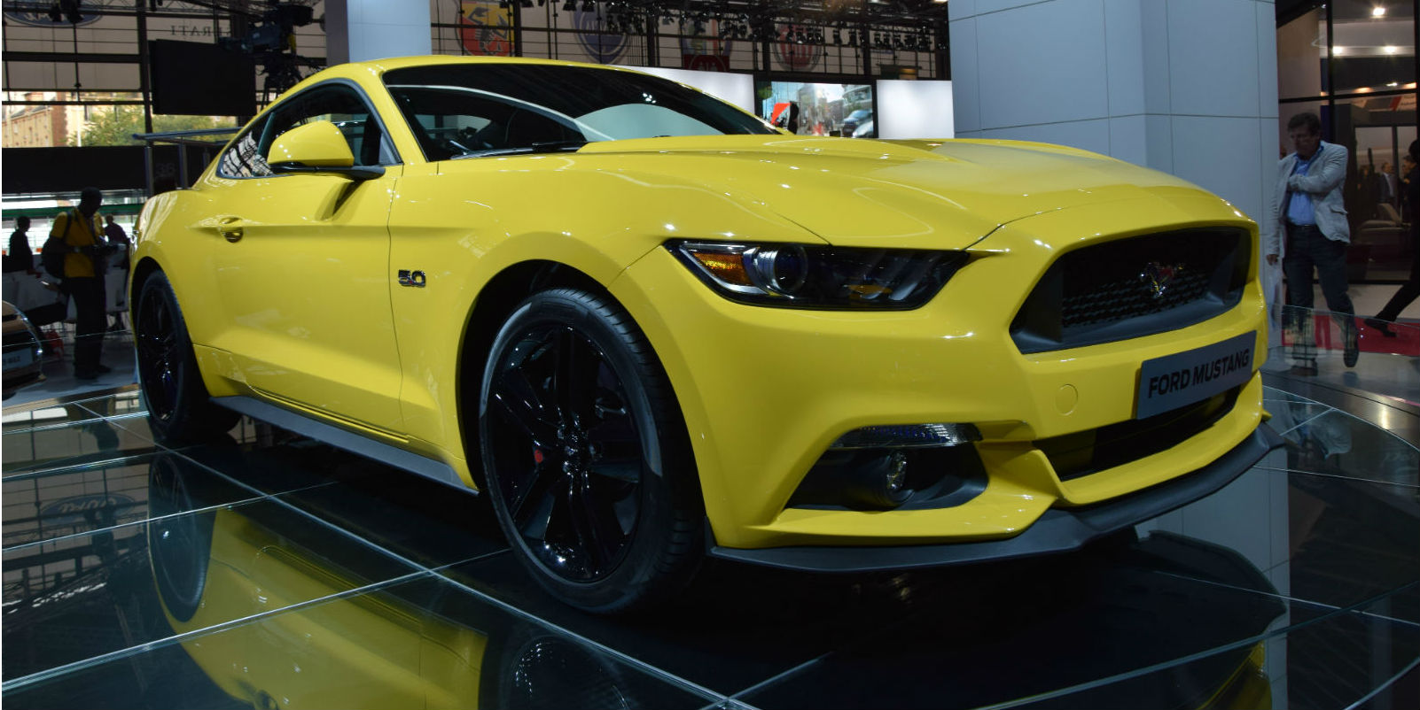 2015 Ford Mustang On Paris Motor Show Cover