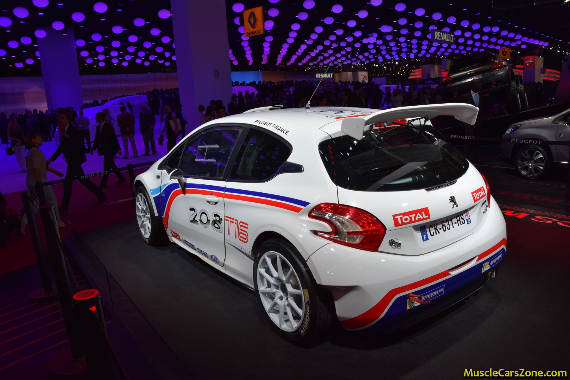 peugeot 208 wrc 2014 paris motor show 15 muscle cars zone. Black Bedroom Furniture Sets. Home Design Ideas