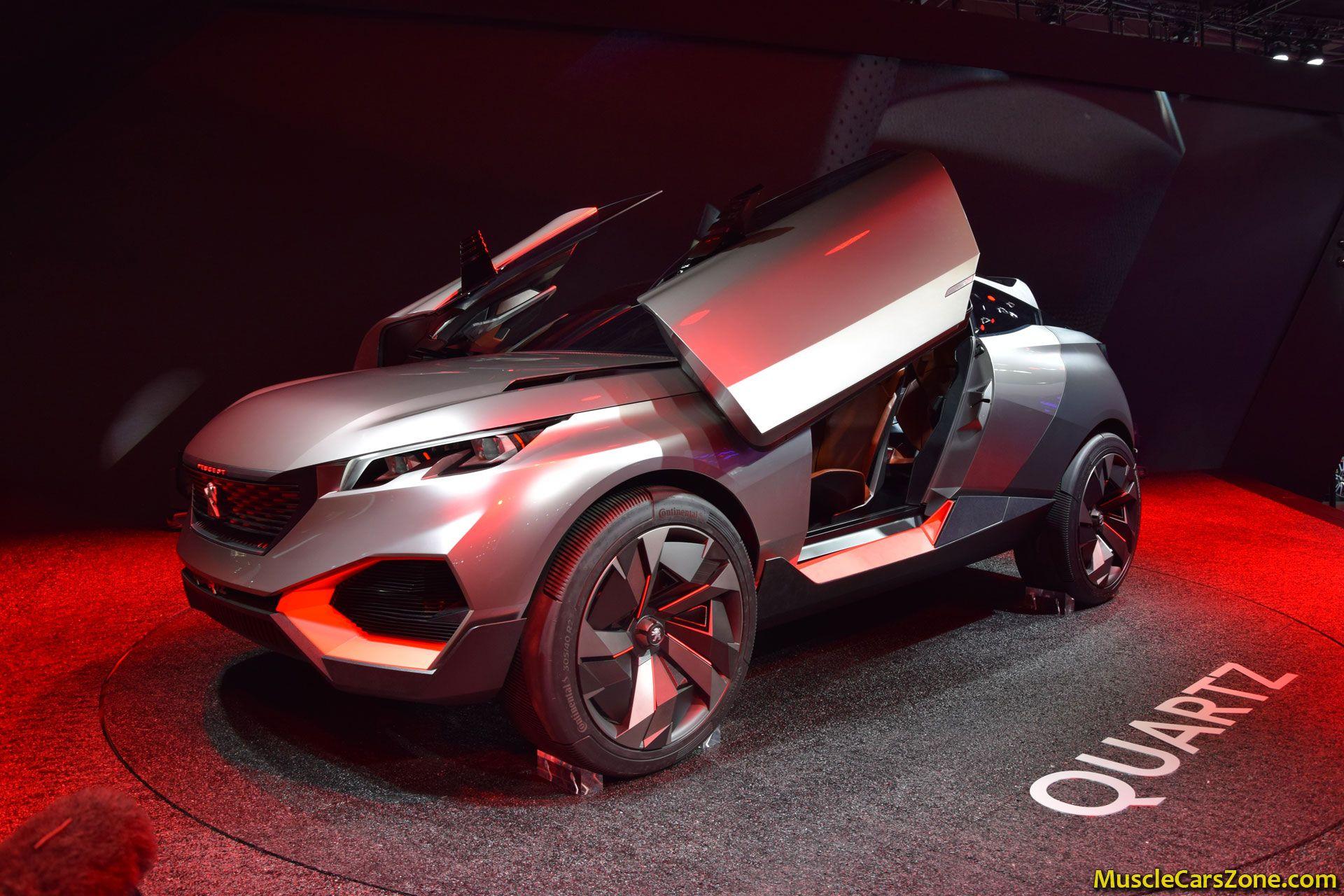 peugeot quartz concept 2014 paris motor show 17 muscle cars zone. Black Bedroom Furniture Sets. Home Design Ideas