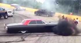 Smokey Burnout By Cummins Diesel Powered Cadillac Deville 3