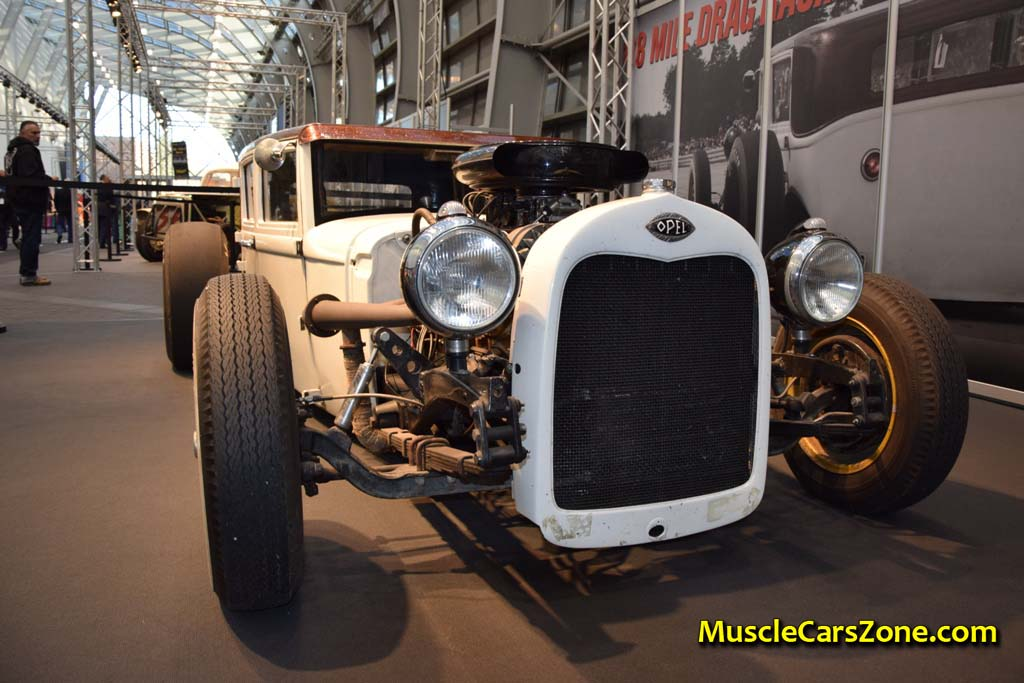 0046 Custom White And Brown Opel Hot Rod Road Devils 01 - Muscle ...