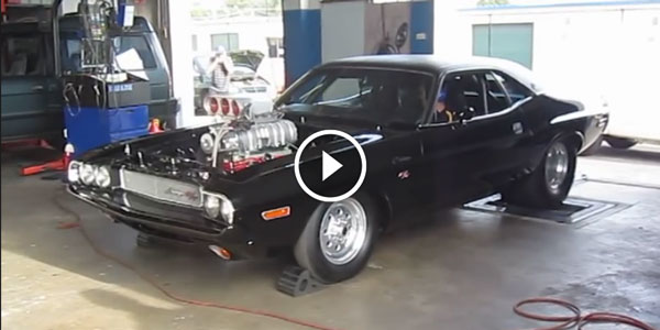 1600HP Blown Dodge CHALLENGER Roaring at the DYNO