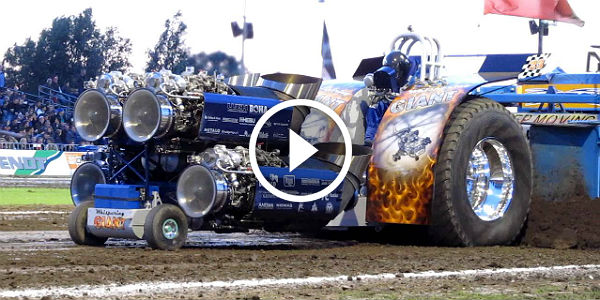 huge tractor with four 1900hp russian helicopter engines how much does a setup like this cost. Black Bedroom Furniture Sets. Home Design Ideas