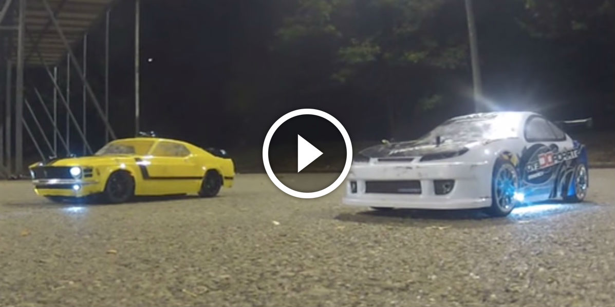 Rc Drift Stunt Show Yellow Ford Mustang Vs Blue Nissan Sylvia