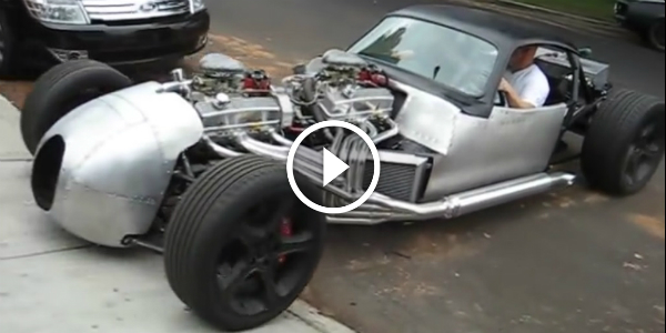 This V16 Hot Rod GOES 0-60 miles Per Hour In Just 3 SECONDS!!! A Cyclist Almost Got HIT!!