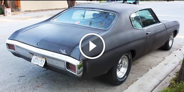 1970 Chevelle burnout leaving the curb