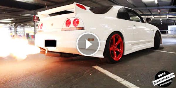 Nissan Skyline Gtr R33 Insanely Loud Amp Shooting Flames