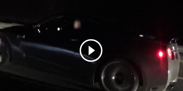 Nissan GTR STOCK Vs Procharged SRT8 300 & One Flying VETTE