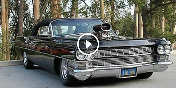 1964 Cadillac Deville Has Grown Up Into A BIG BLACK & BLOWN MUSCLE CAR!!