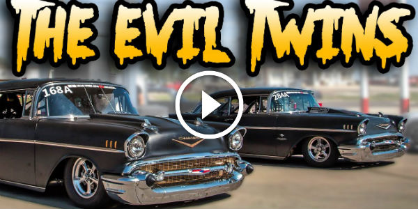 6000HP of Twin Turbo 57 Chevy Bel Air