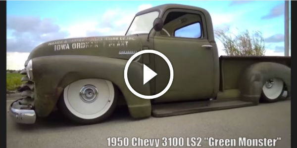 1950 Chevy 3100 – REAL Rat Rod MONSTER! LS2 Engine, Air Ride & Rude Tech