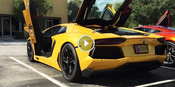 Lamborghini Aventador Twin Turbo Revving!